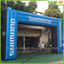 Customized shape inflatable archway