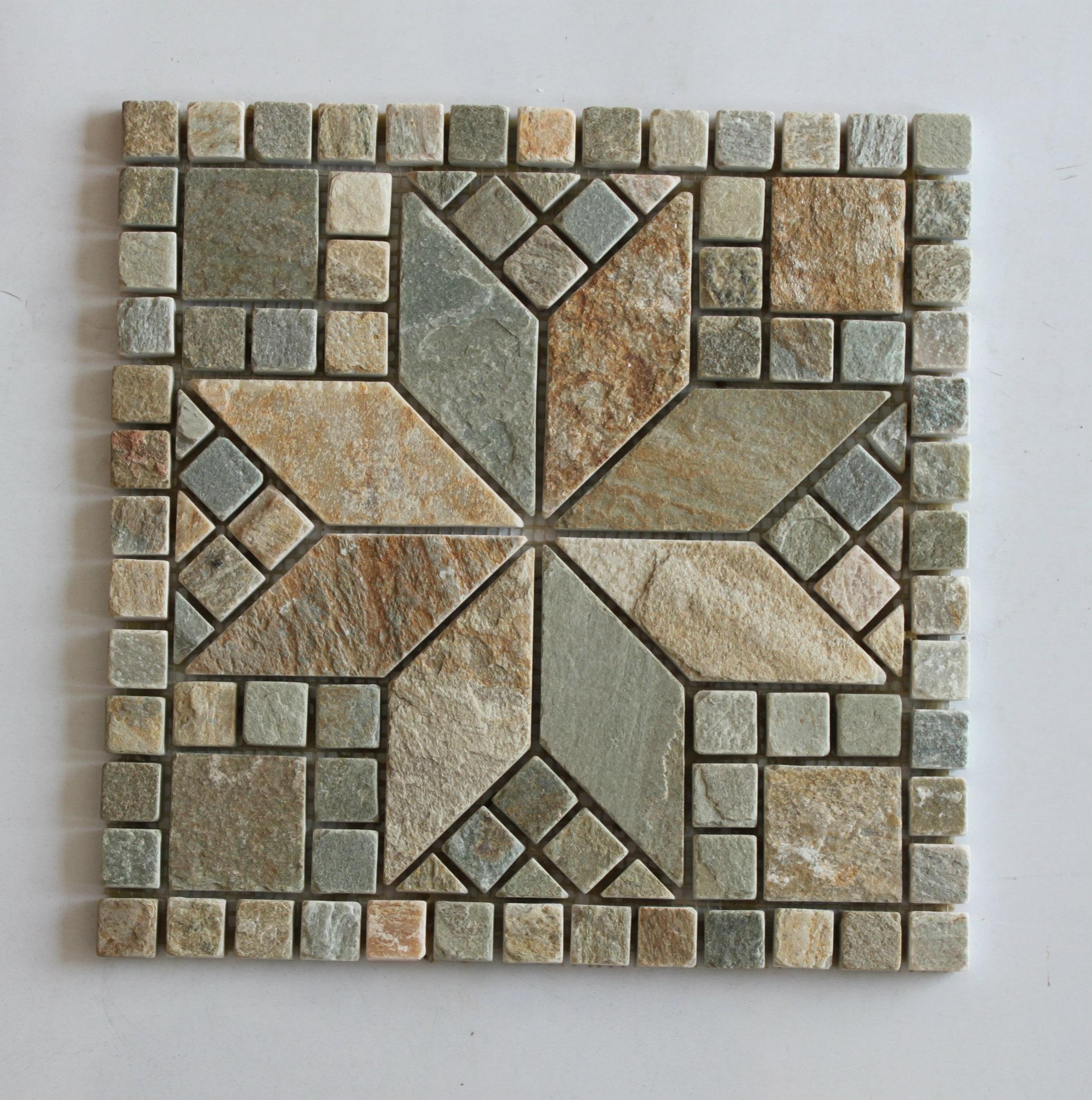 Natural Stone Slate Mosaic Tile