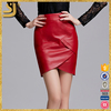 Sexy Women Party Red Wash Pu Leather Flower Bodycon Wrap Skirt