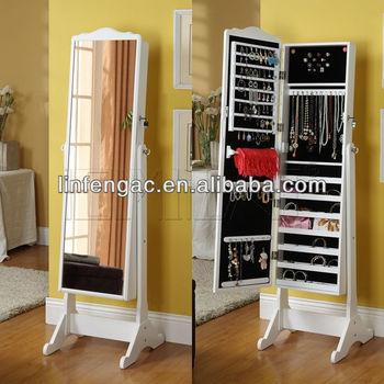 Fantastic Mirrored Jewelry Cabinet Standing Mirror Jewelry Storage