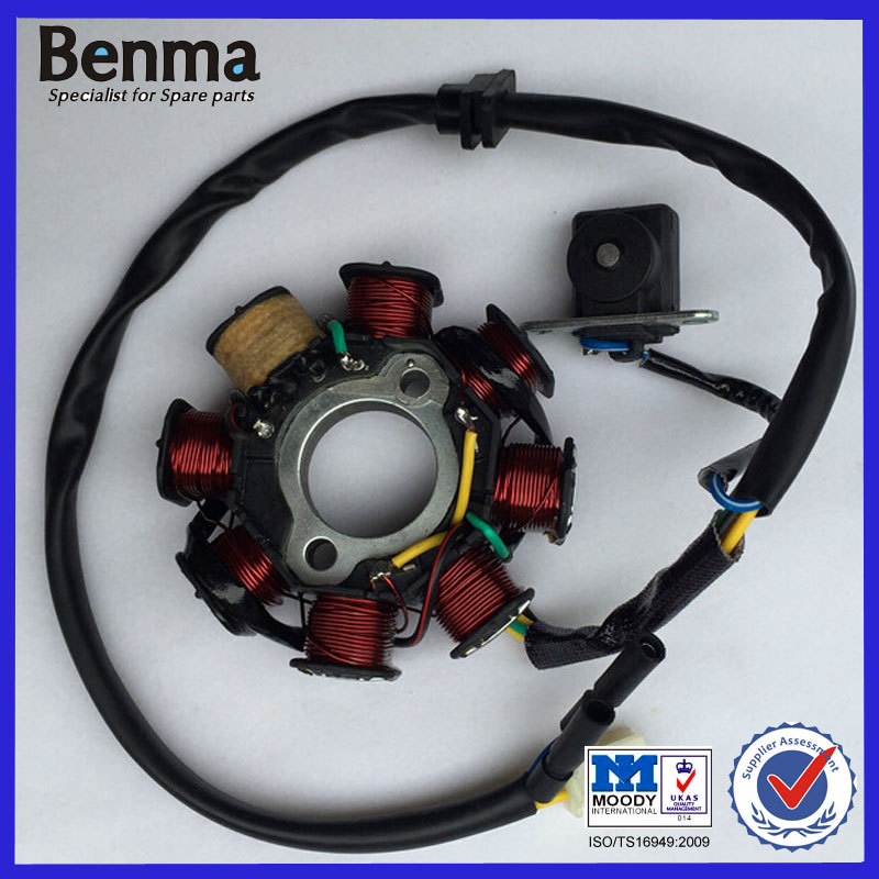 Top Quality Motorcycle 8 Poles Copper Stator Coil Motor GY6 50CC Scooter Magneto Stator