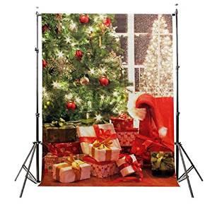 5x7FT 2.1mx1.5m Christmas Tree Studio Props Backdrop Photography Background / . 5x7FT 2.1mx1.5m Christmas Tree Studio Props Backdrop Photography Background . . . Material: cloth . . Size