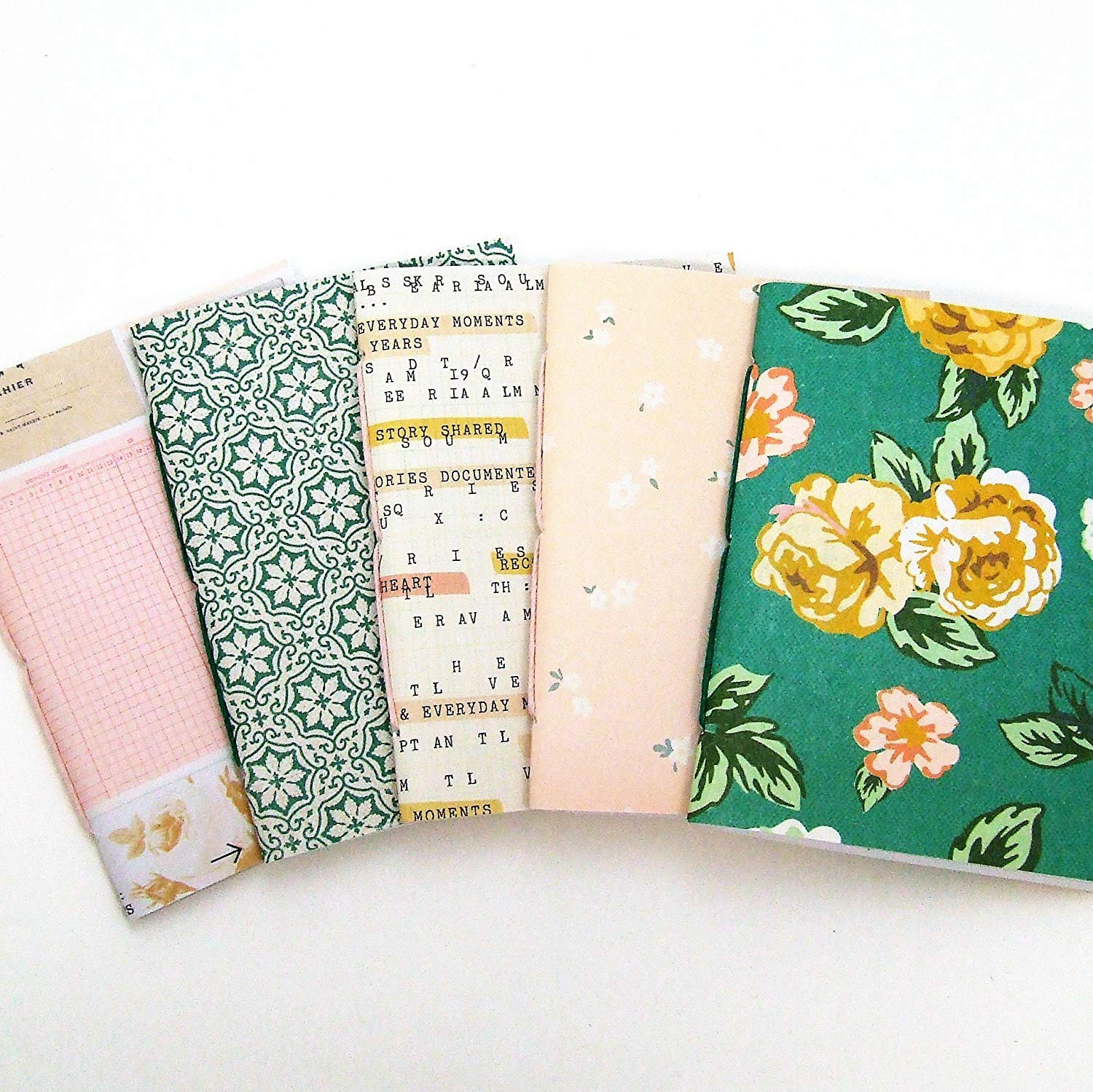 journal floral and stripes pink 8x10 lined journal writing journal with blank lined pages