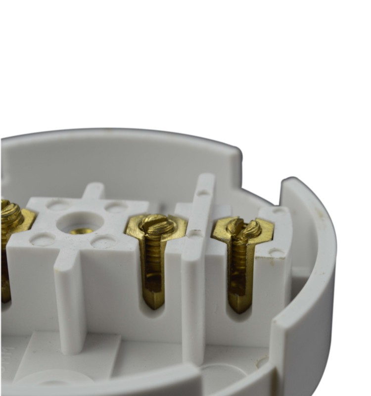 bakelite line arragement 3terminals round white 30amp junction box, connection box