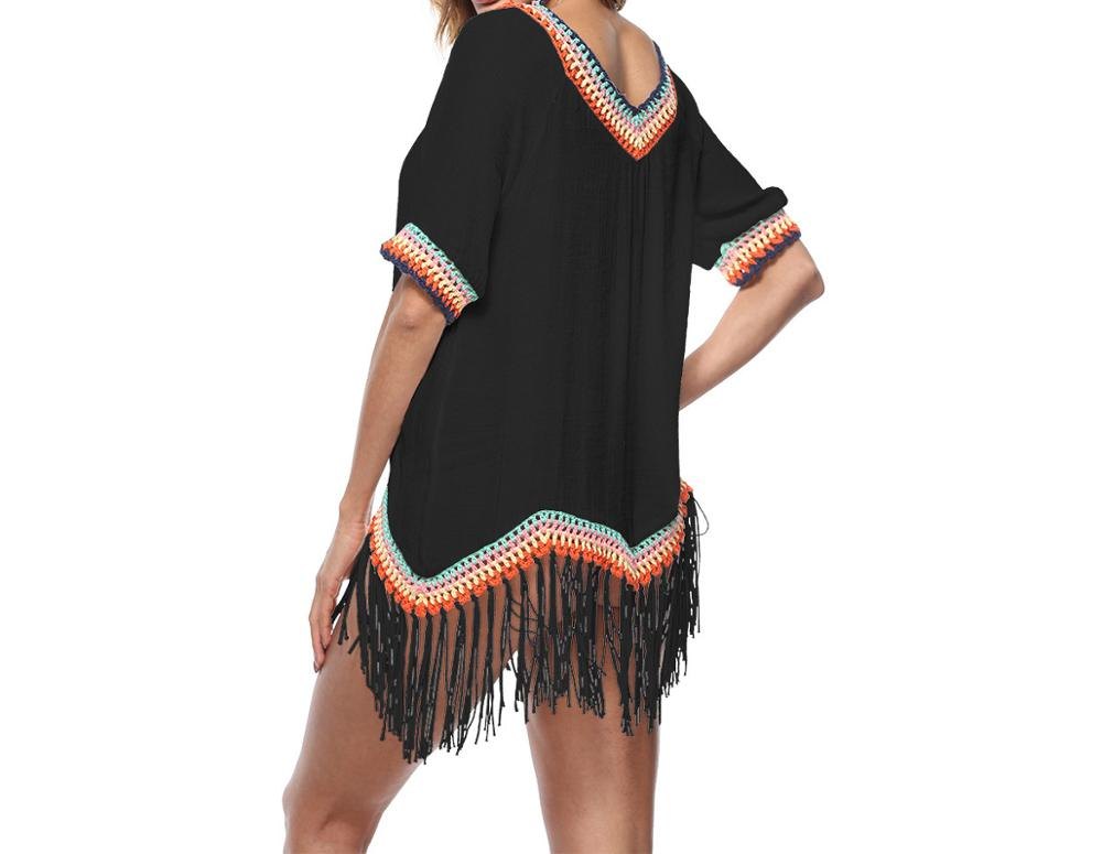 Groothandel Sexy Kwastje Kant Beach Cover Up Kaftan