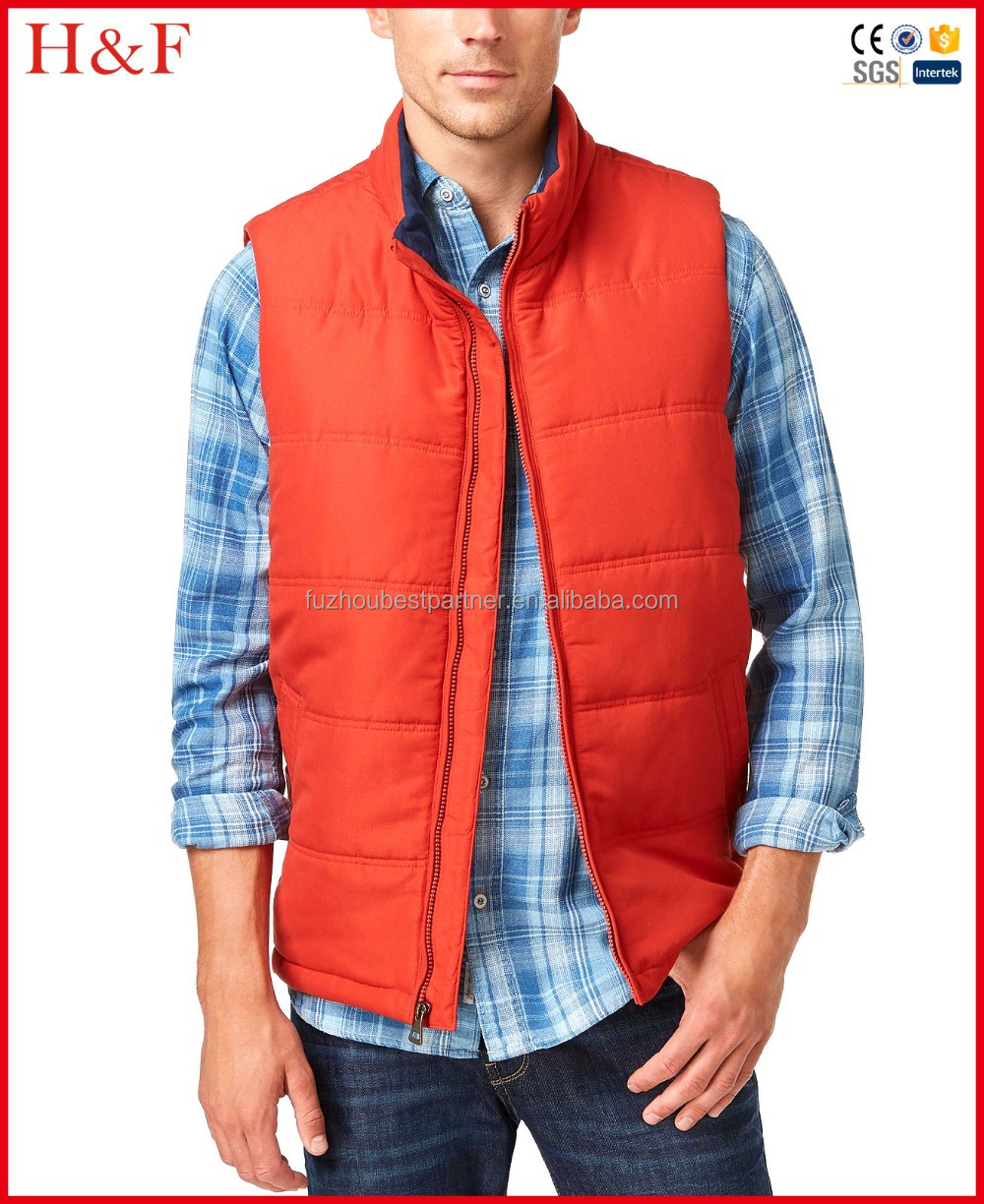 2016 latest desigh mens vest cheap fleece jacket without sleeves for men