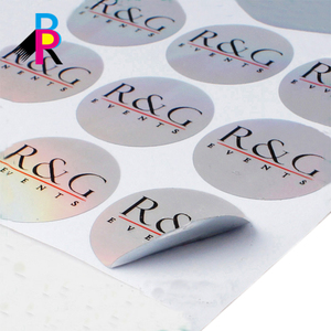 New Stly Custom Logo Paper Round Stickers Wholesale