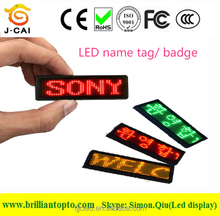 Promotional price LED Name Tag and LED Name Badge
