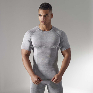 08945412 Wholesale Custom Blank Dry Fit Quality OEM ODM Gym Fitness Mens Compression  Shirt
