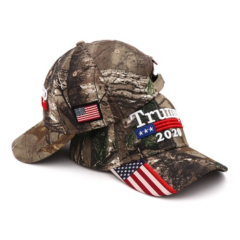 Free shipping high quality american flag tactical realtree camo baseball cap trump 2020 hats