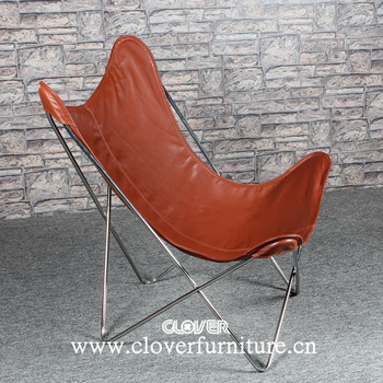 Hardoy Butterfly Chair Stainless Steel With Leather - Buy Butterfly ...