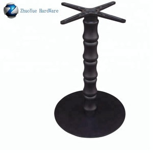 Metal industrial Furniture Legs black antique wrought iron cast iron table base for coffee table top