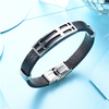 BAOYAN Gold/Silver Plated Stainless Steel Cross Black Leather Wrap Bracelet For Men