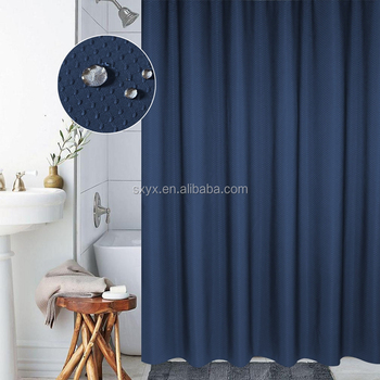 Quality Waffle Shower Curtain Mildew Resistant And Waterproof Fabric With Rust Proof Metal Grommets 72x72
