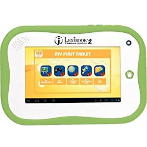 """Lexibook S.A - Lexibook Kids Tablet Junior 2 - Lexibook Cloud - Learning Tools - 12,000 Apps - Multimedia - Skill Learning - 15 Languages App """"Product Category: Electronic/Music/Creative Play Toys/Kids Computers"""""""