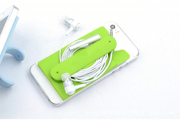Promotional silicone smart phone wallet/cell phone credit card holder