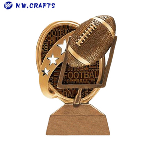 2018 new style rugby sports prize resin American football trophy for sale