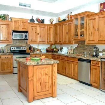 Oak Burma Teak Solid Wood Kitchen
