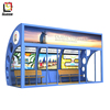 outdoor furniture Dubai arc-shaped indoor advertising bus shelter with air conditioner