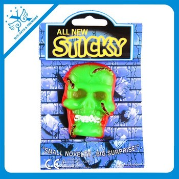 commercial halloween decorations colorful skull head tpr toy sticky squishy toy - Commercial Halloween Decorations