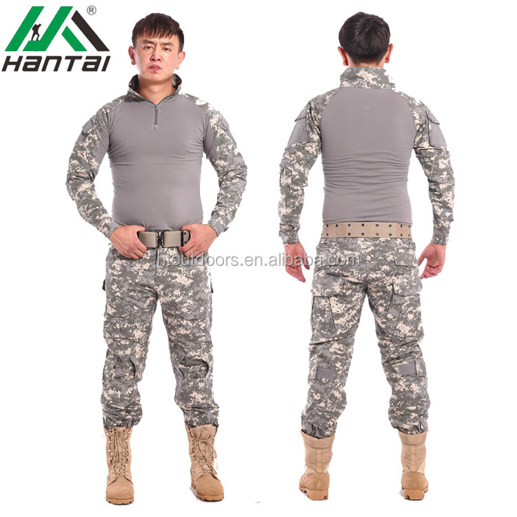 ACU color Digital Blue and Grey Tactical frog suit