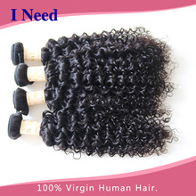 thick real hair weft 100% virgin human afro curl brazilian hair