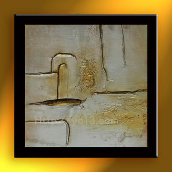 Wholesale Abstract Wall Painting Designs Gold Cross Handmade Wall