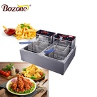 EF-82A Commercial Counter Top Automatic French Chips Frying Machine /Gas Fryer 2 Basket /Electric Industrial Deep Fryer