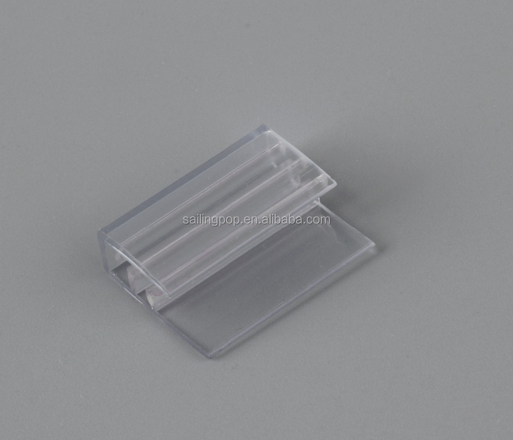 Clear shelf accessory promotion price tag extruded label holder