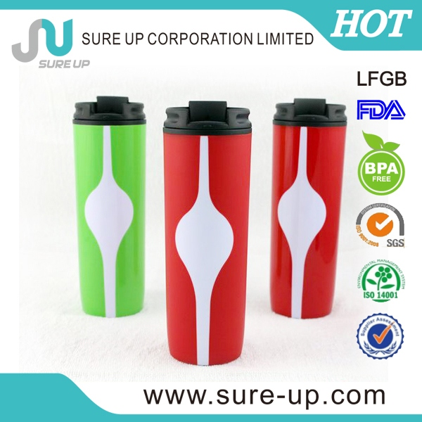 fancy thermos plastic beverage to go cup (MPUF004)