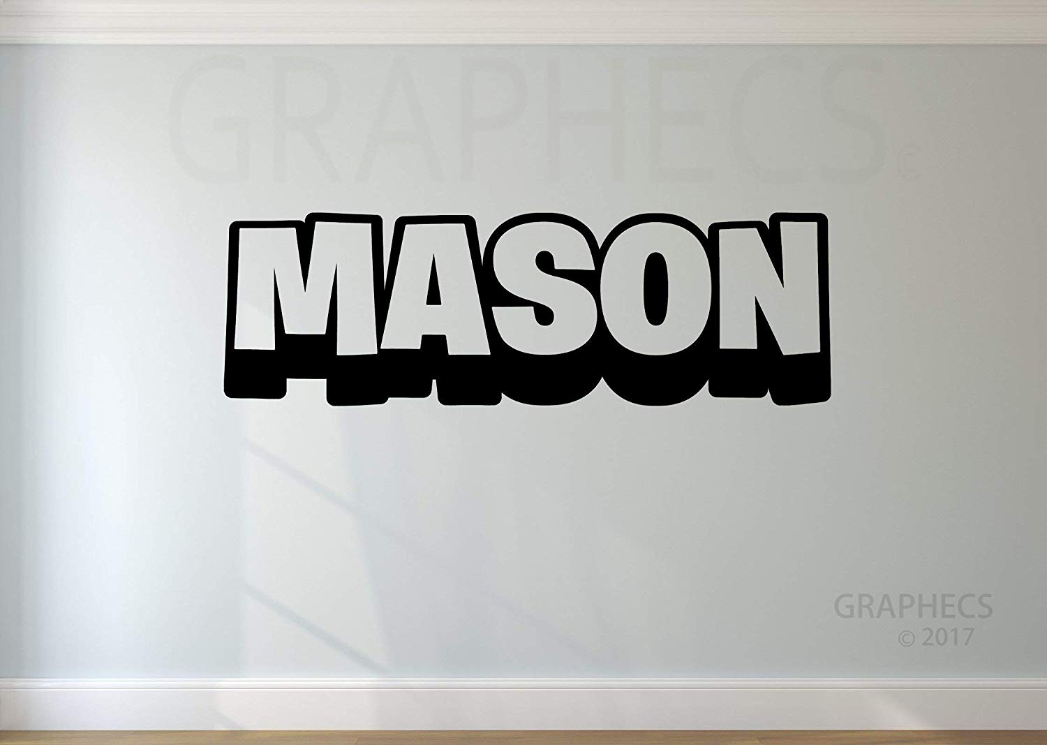 Personalized Gamer Battle 3D Wall Decal - Choose your NAME Custom Gaming Vinyl Decal Sticker Decor Kids Bedroom