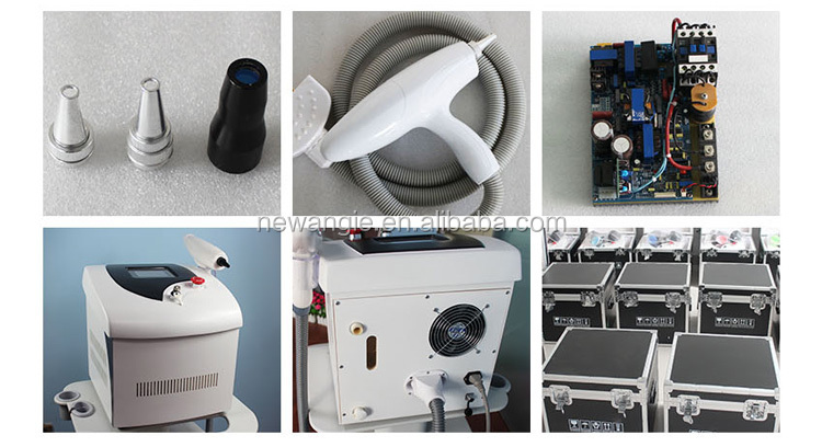 New design effective wind + water cooling manner q switched nd yag laser