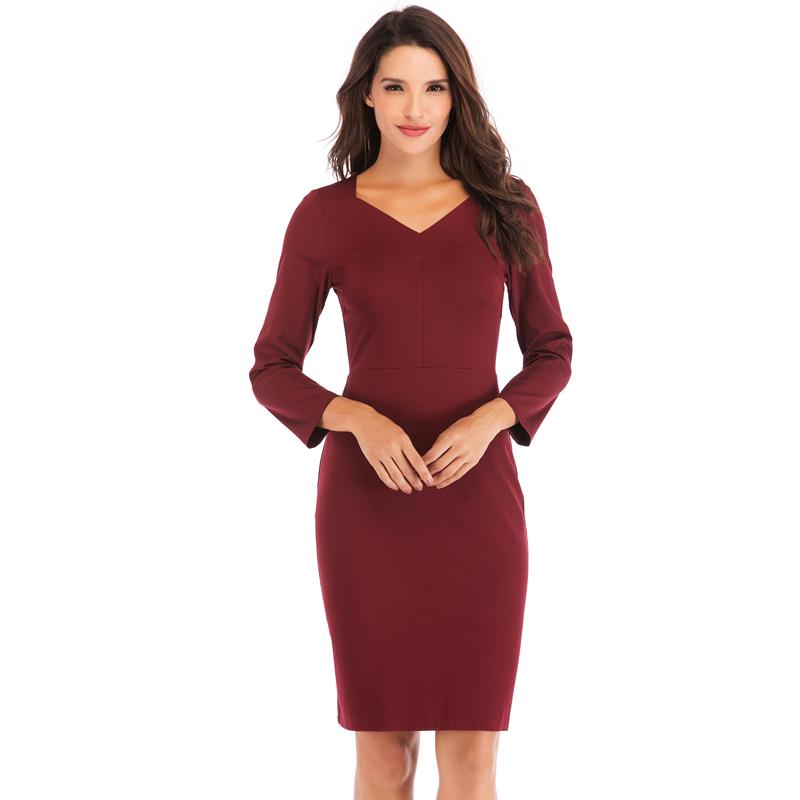 557a3c1ad 2019 المرأة العمل الرسمي اللباس أحدث الأزياء مكتب تصاميم موحدة فساتين