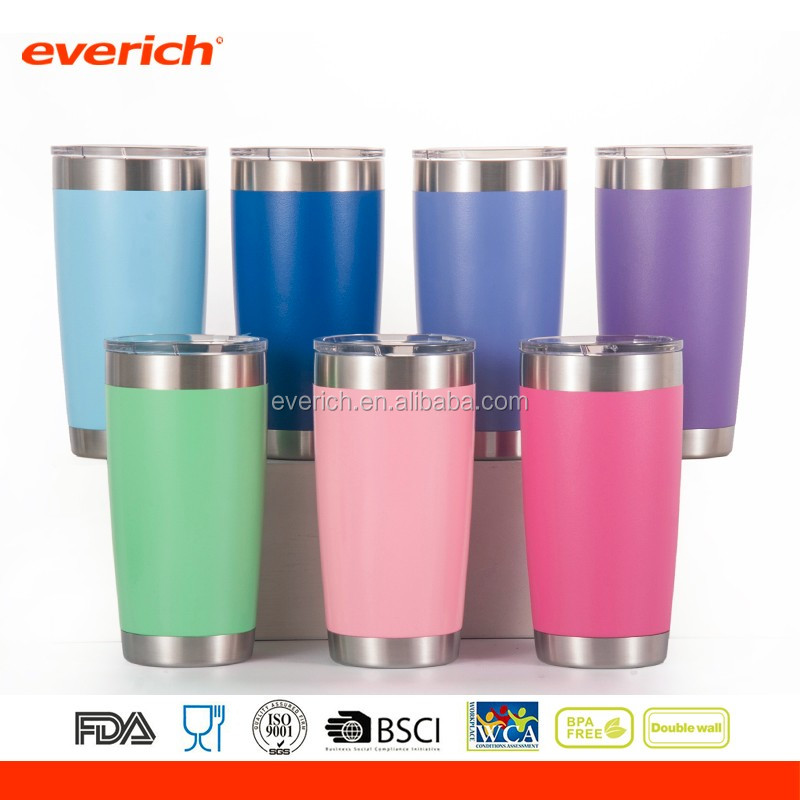 20oz 30oz RTIC Colorful Powder Coated Insulated Stainless Steel Tumbler