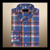 alibaba online shopping newest design plaid cotton banded collar dress shirts