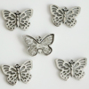Antique Silver Plated Butterfly Charms Pendants Jewelry Making Bracelet DIY Jewelry Findings Handmade 15x13mm