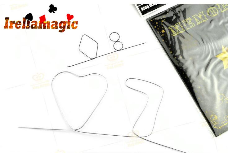 Memory Metal Wire Fire Prediction small Hearts 7or diamond 8 Irelia mentalism magic