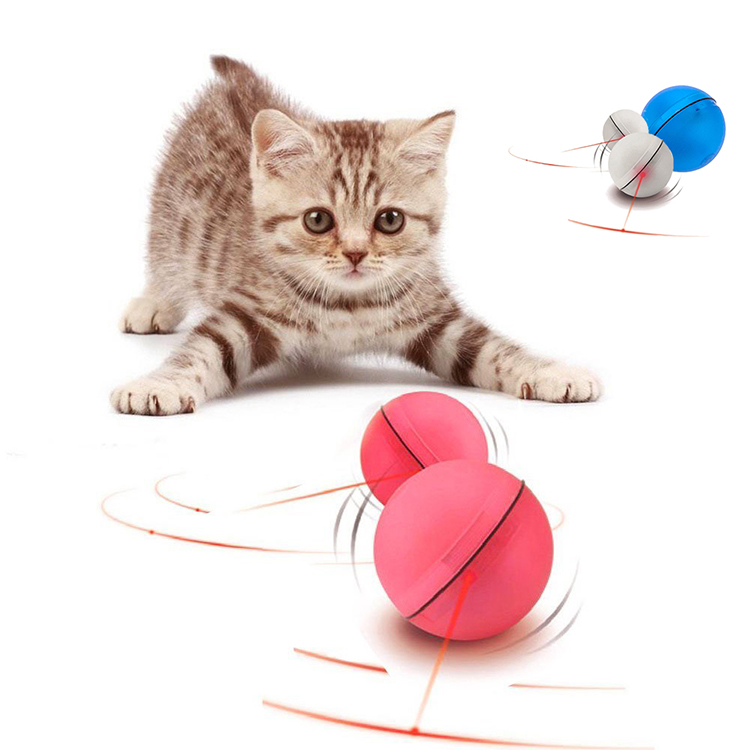 Interactive Self Rotating Electric Light Magic LED Cat Toy Ball