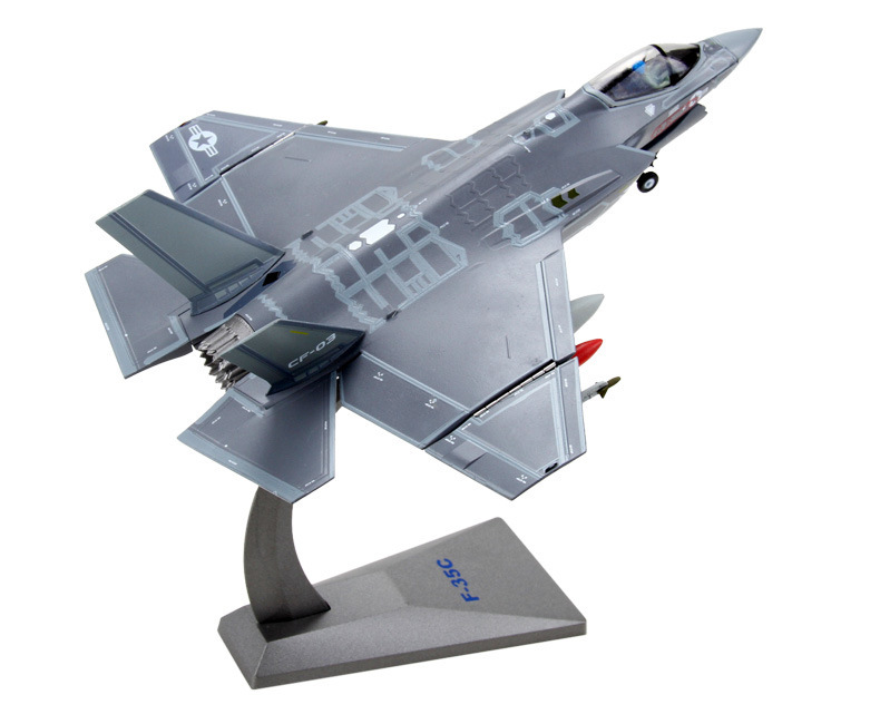 1: 72F35 American lightning simulation model of single-seat fighter aircraft alloy model aircraft military Decoration