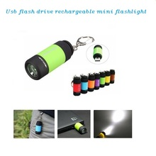 Hot Selling Cheap gift led flashlight usb flash drive custom logo
