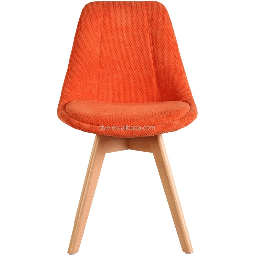 hot selling modern cheap& simple plastic fabric wooden diningor office indoor & outdoor popular wholesale chair with cushion