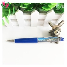 Hot Selling Promotional Liquid Floating Plastic Ballpoint Pen with Customized Logo