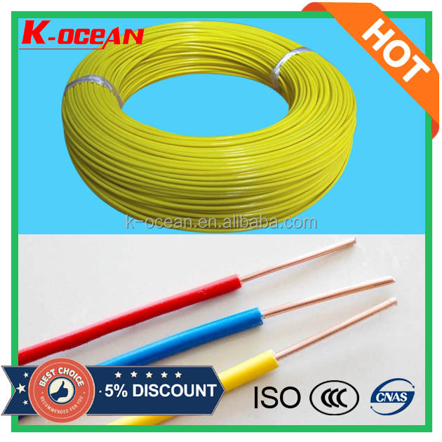 Factory Price House Wire BV 1.5mm 2.5mm 4mm 6mm 10mm Single Core PVC Insulated Electrical Cable Wire