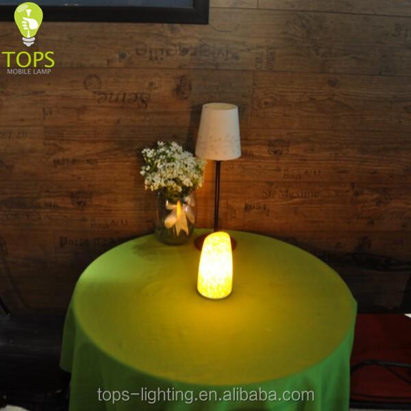 Glass Egg Shaped Battery Powered Hotel Night Floor Lamp For ...