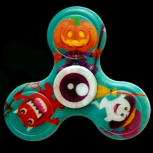 Halloween Glowing Fidget Spinner Custom Logo Hand Spinner Halloween Luminous Toys For Kids