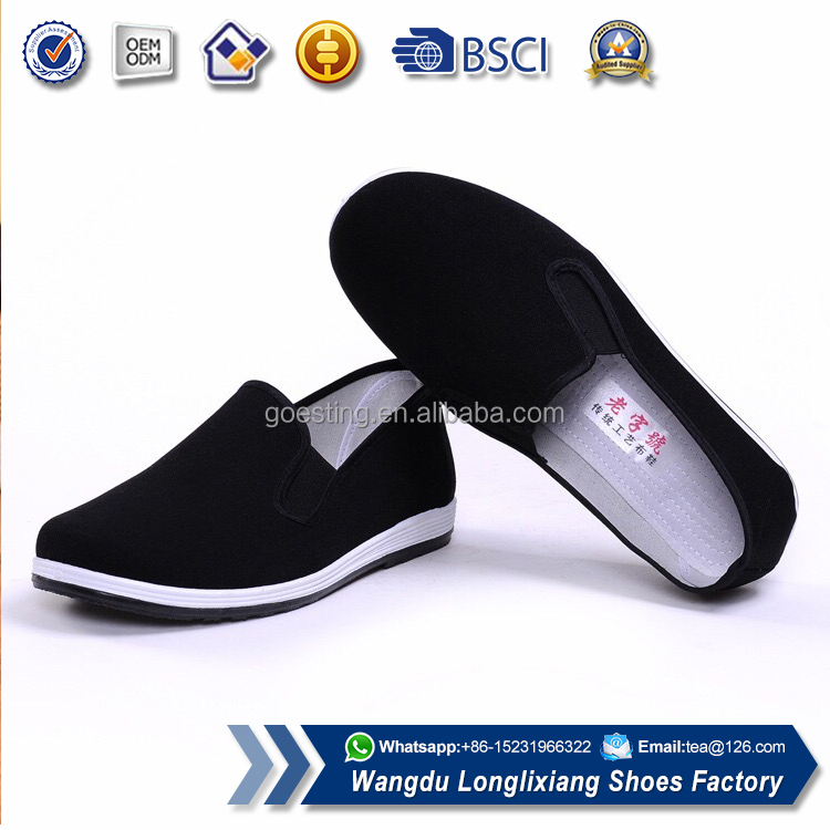 Traditional Walking Rubber kungfu canvas shoes for men
