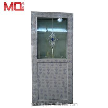 Waterproof Flower Insert Glass Design Pvc Bathroom Door Price View