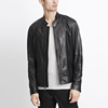 Men Classic 100% PU Leather Moto Jacket