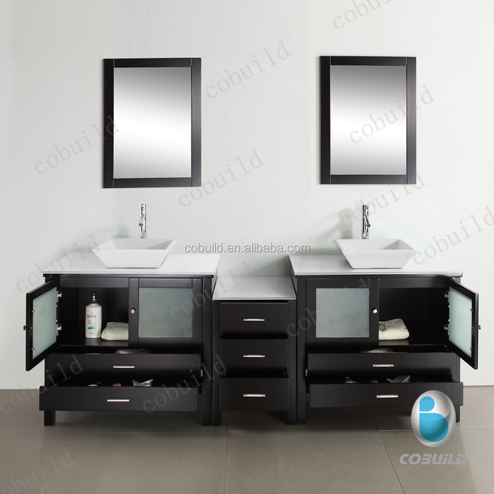 double vanity in w cabinet bathroom sink with set two element design matching linen london white