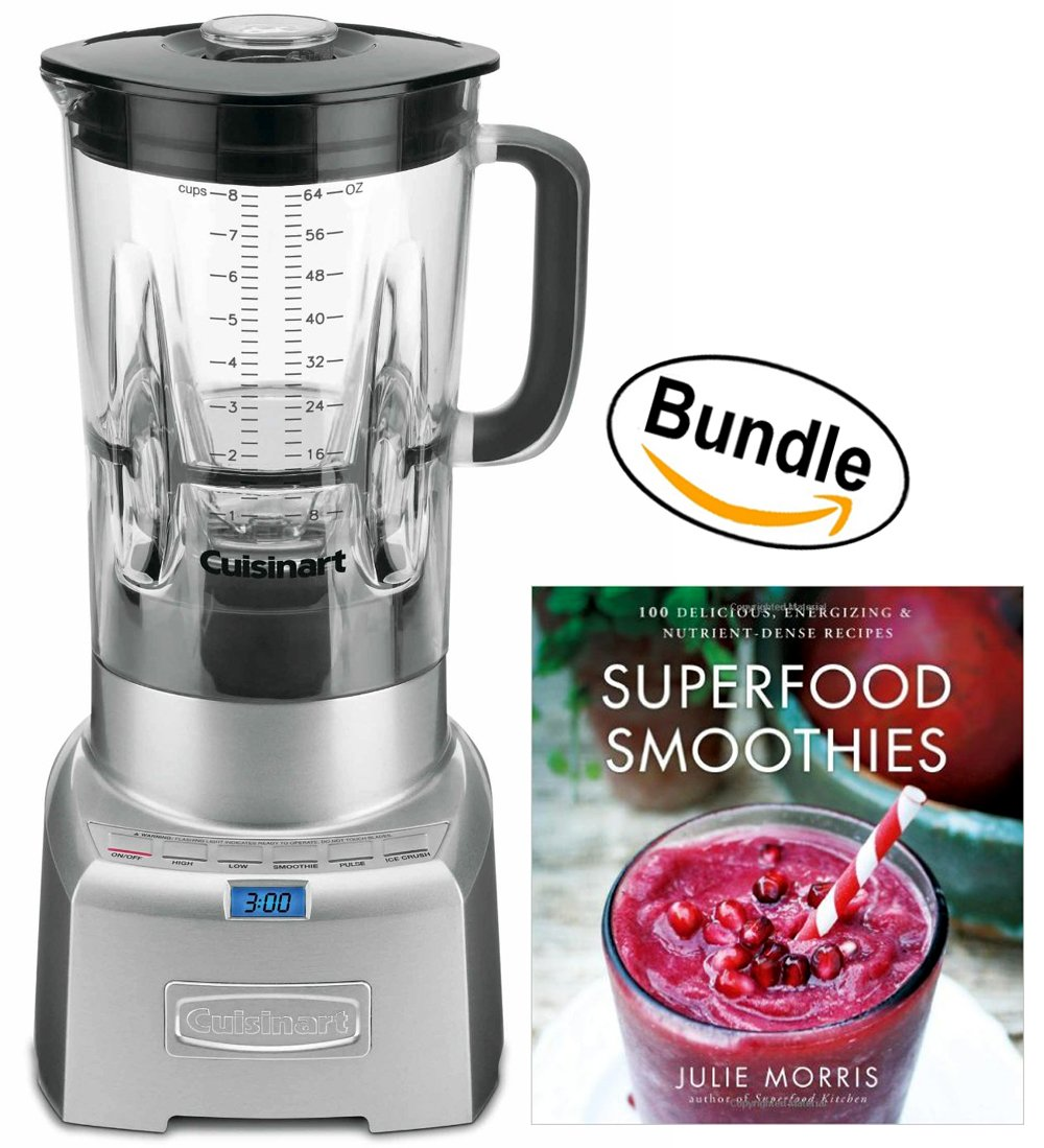 CBT-1000 PowerEdge 1.3 Horsepower Blender with BPA Free Jar, 64-Ounce, Brushed Stainless & Superfood Smoothies: 100 Delicious, Energizing & Nutrient-dense Recipes (Bundle)